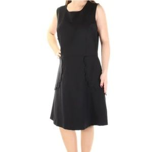 Maison Jules Black Fit and Flare Dress